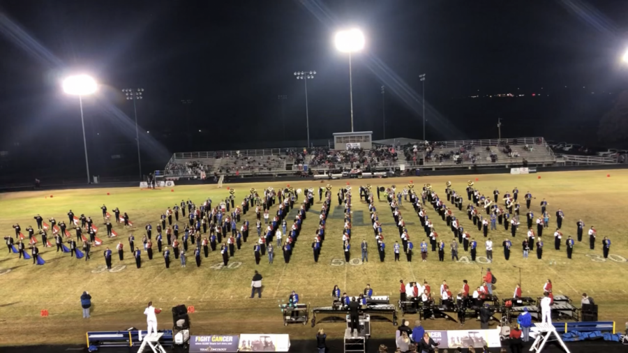 Marching rivals take field as one for special halftime performance