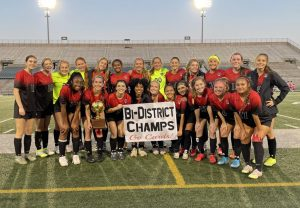 Bi-District Champs! The Lady Cards defeat Athens on March 25 to advance to round 2 in the 4A state girls soccer playoffs.