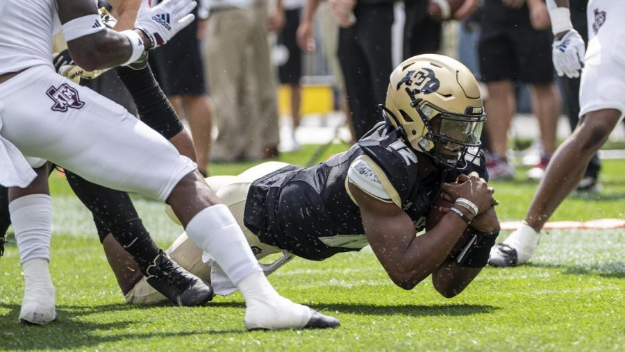 Brendon Lewis is now the starting quarterback for the Colorado Buffs. During the game against Texas A&M, he scored a rushing touchdown.